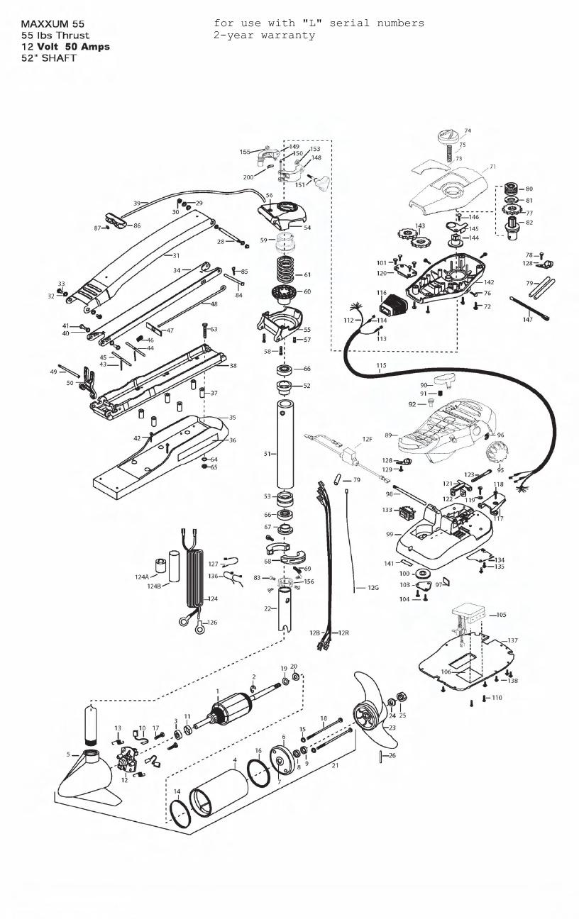 Minn Kota Max 55 (52 Inch) Parts - 2011