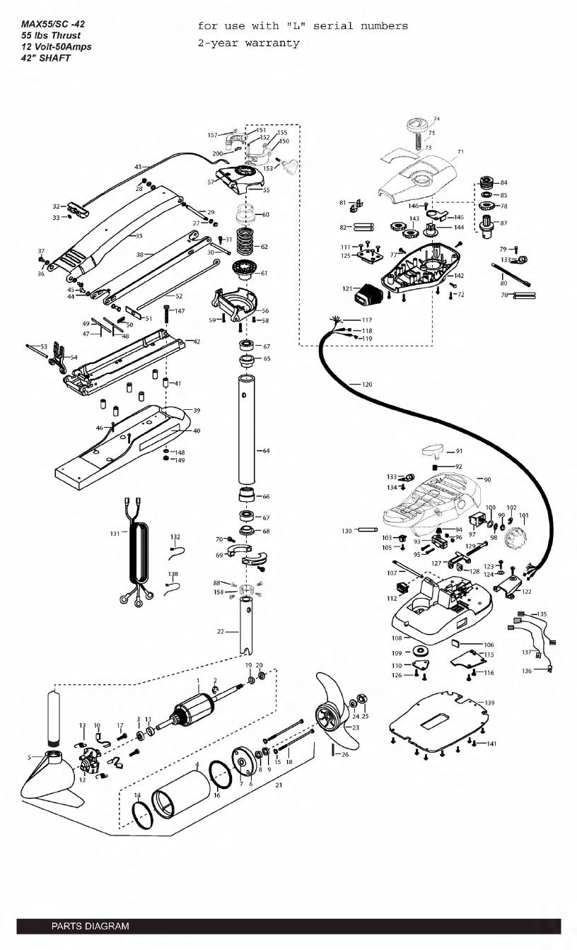 Minn Kota Max 55 SC (42 Inch) Parts - 2011