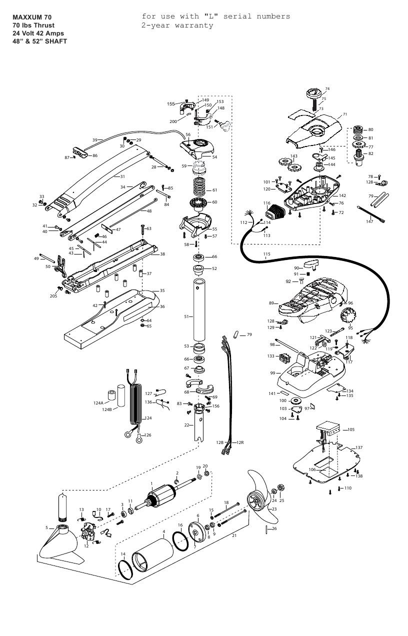 Minn Kota Max 70 (52 Inch) Parts - 2011