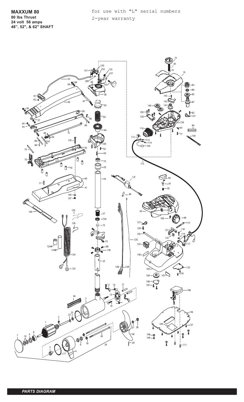Minn Kota Max 80 (52 Inch) Parts - 2011