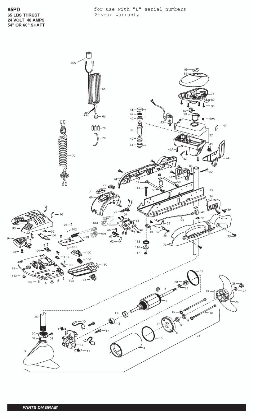 Minn Kota PowerDrive V2 65 Parts - 2011
