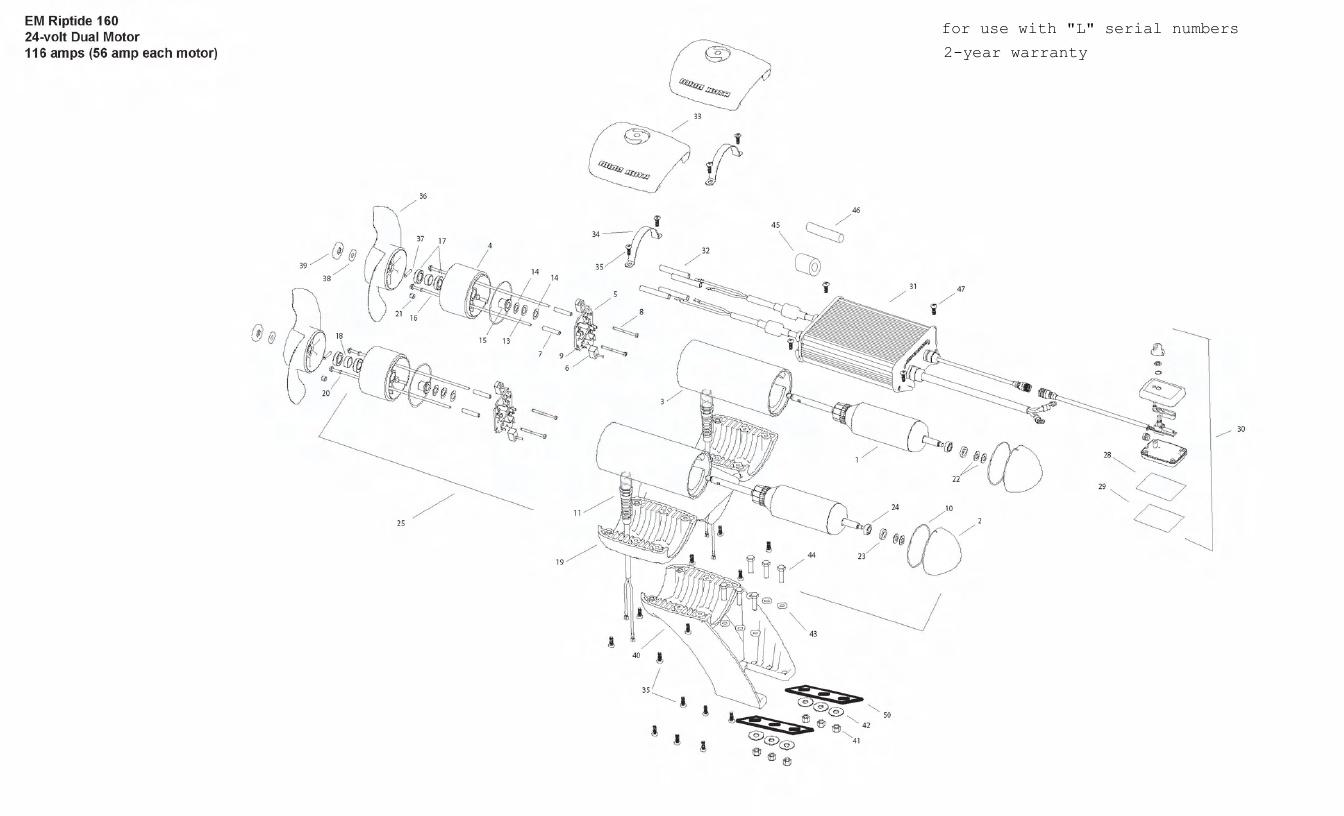 Minn Kota Engine Mount Riptide 160 Parts - 2011