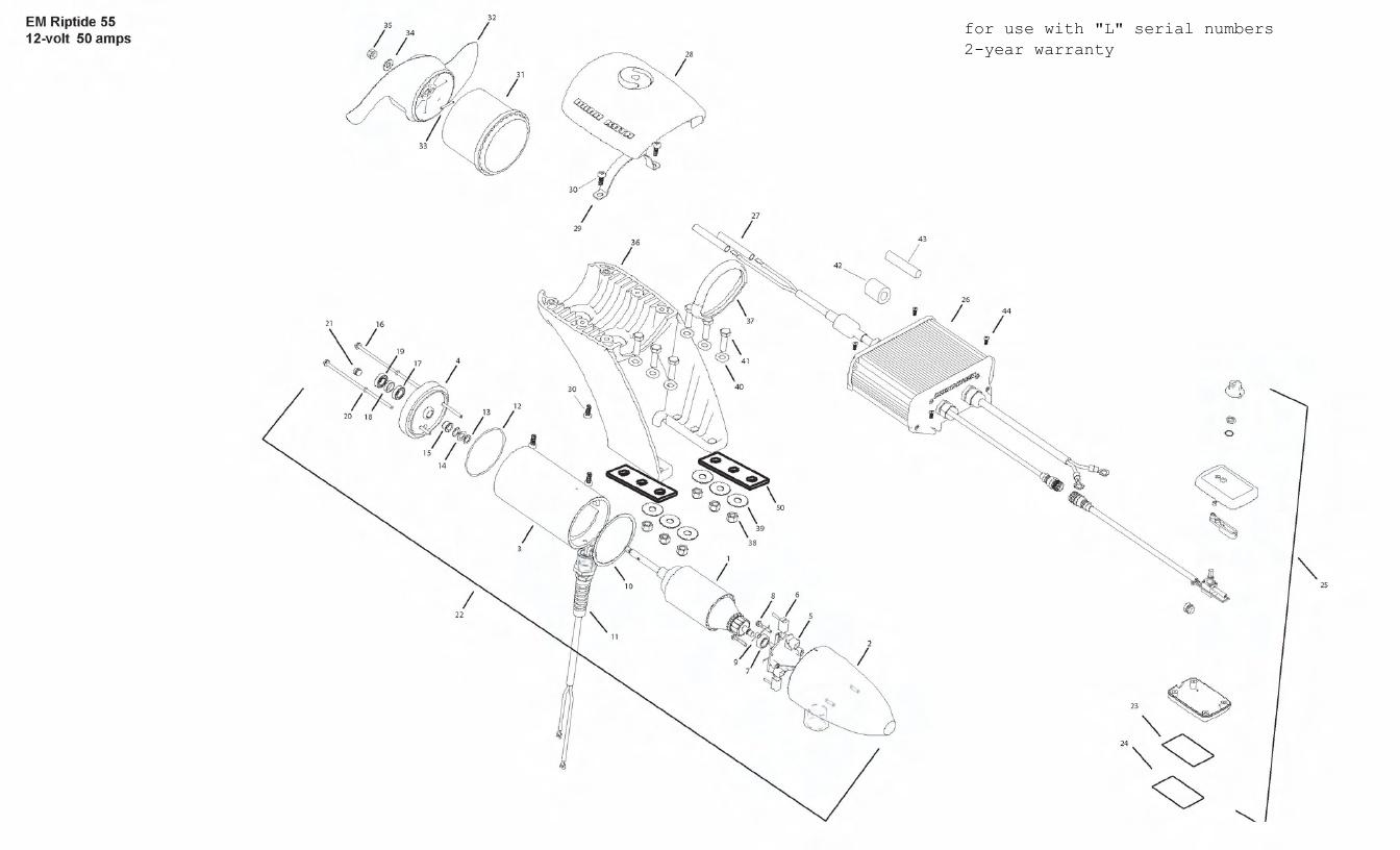 Minn Kota Engine Mount Riptide 55 Parts - 2011