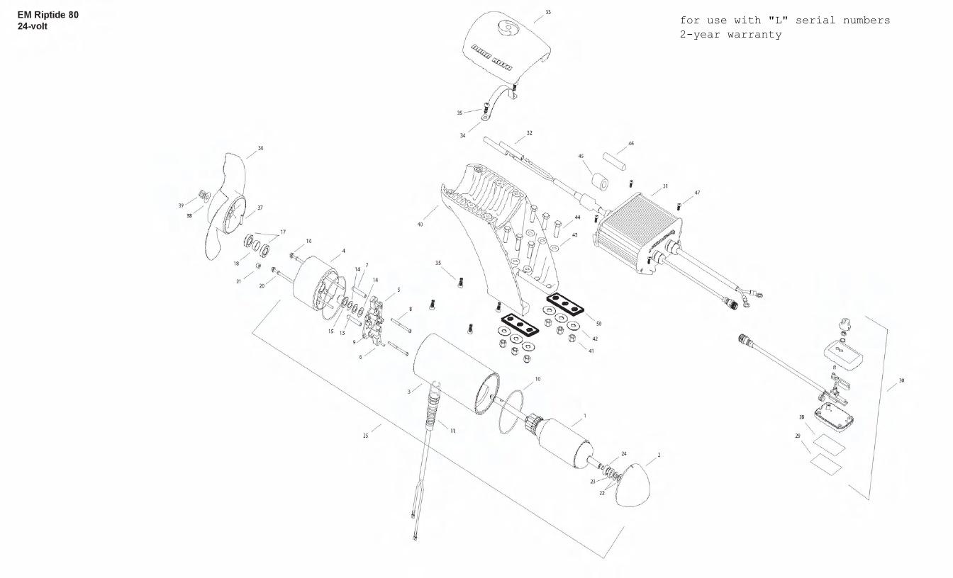 Minn Kota Engine Mount Riptide 80 Parts - 2011