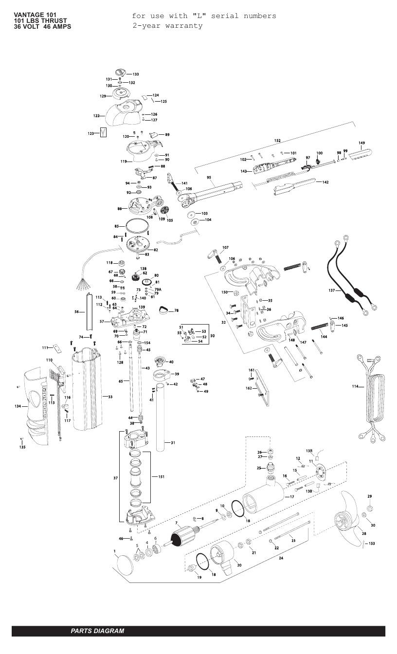 Minn Kota Vantage 101 Parts - 2011
