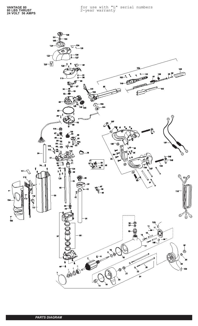 Minn Kota Vantage 80 Parts - 2011