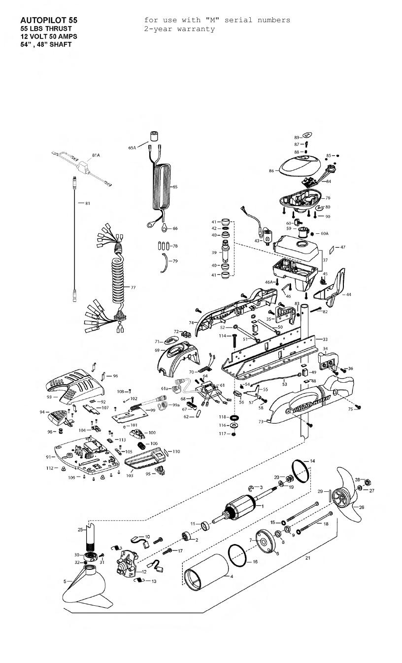 Minn Kota AutoPilot V2 55 Parts - 2012