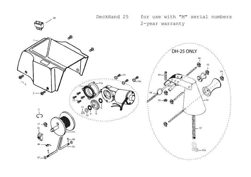 Minn Kota DeckHand 25 Parts - 2012