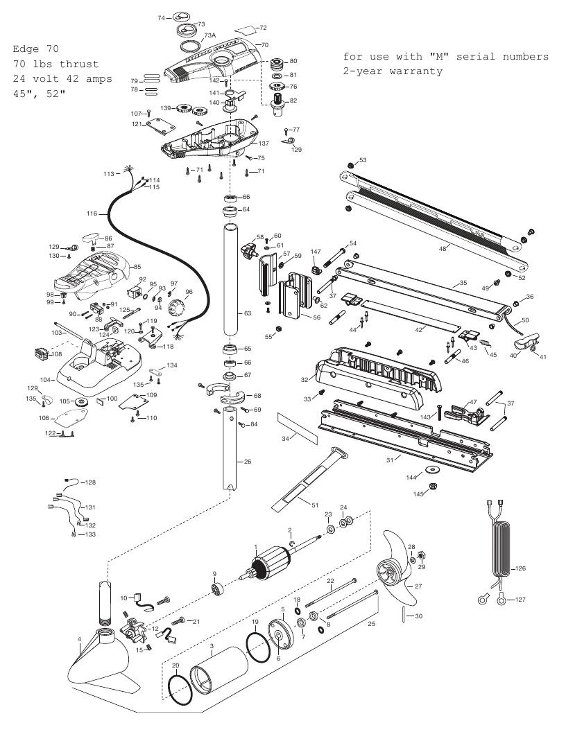Minn Kota Edge 70 Parts - 2012