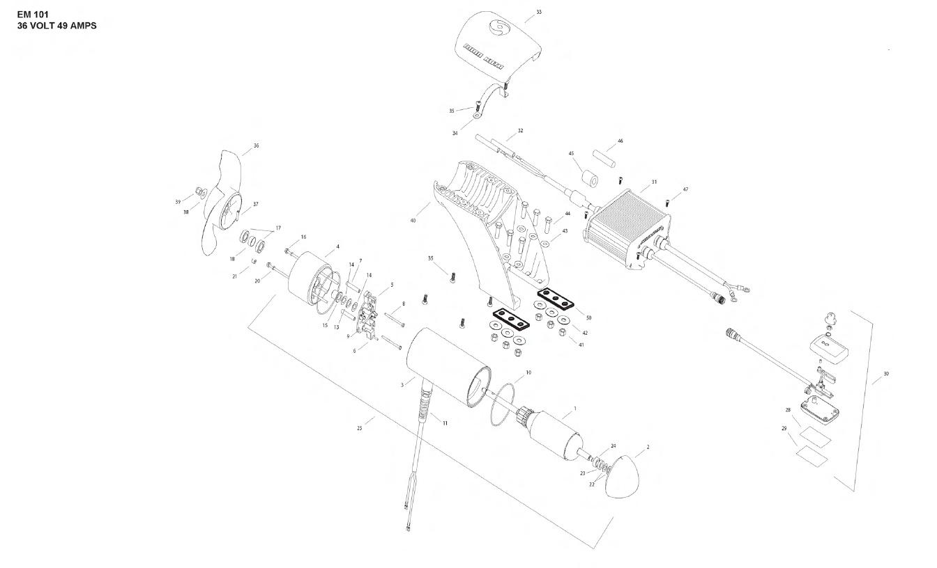 Minn Kota Engine Mount 101 Parts - 2012