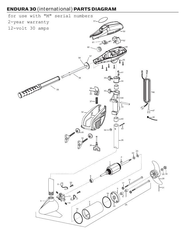 Minn Kota Endura C2 30 International Parts - 2012