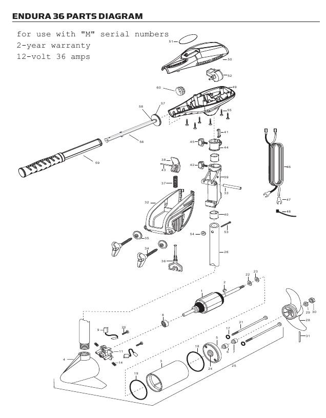 Minn Kota Endura C2 36 Parts - 2012