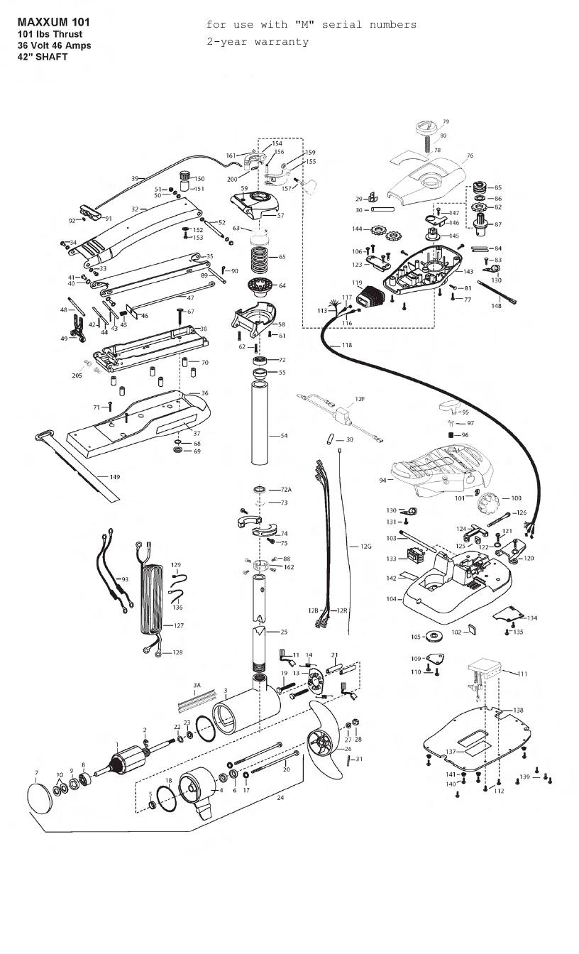 Minn Kota Max 101 (42 Inch) Parts - 2012