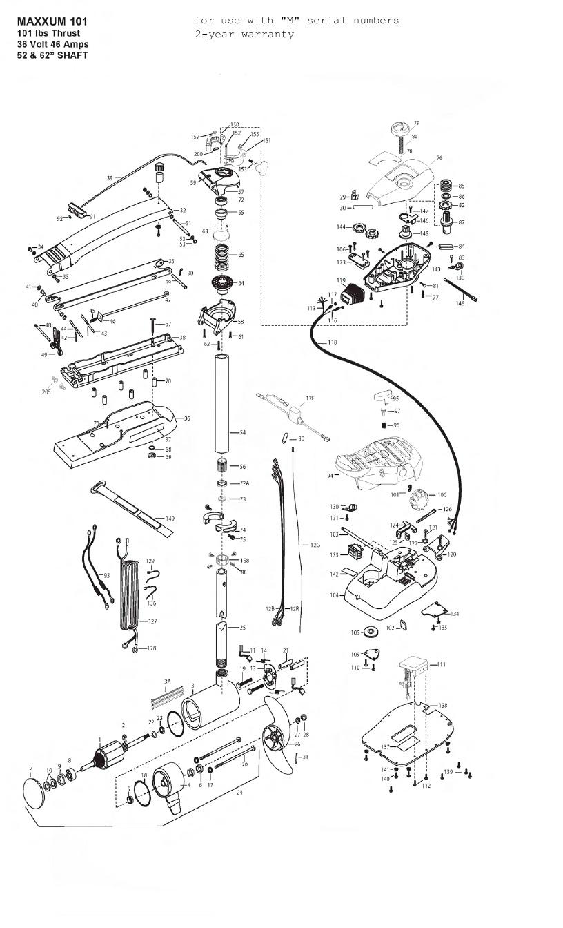 Minn Kota Max 101 (52 Inch) Parts - 2012