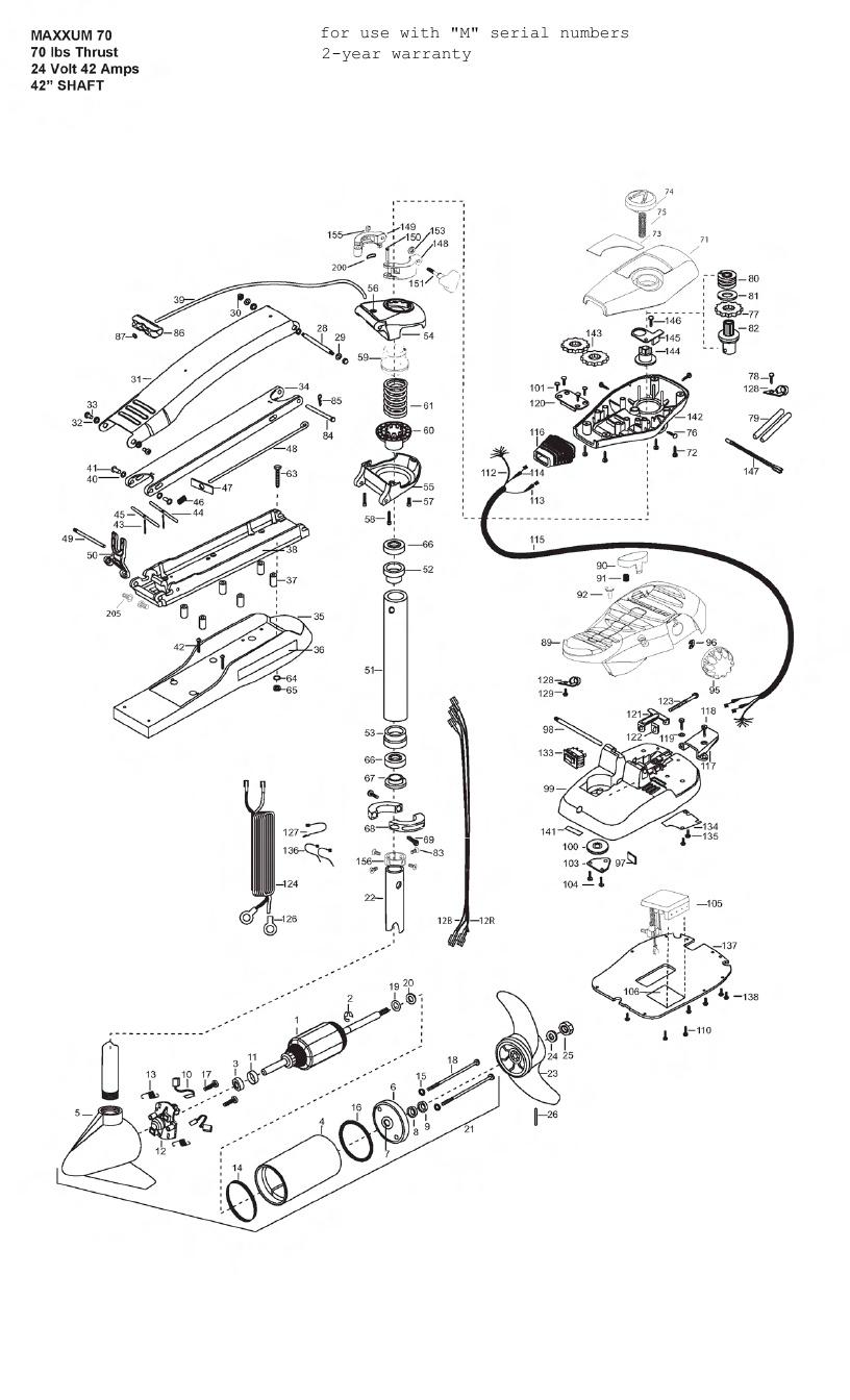 Minn Kota Max 70 (42 Inch) Parts - 2012