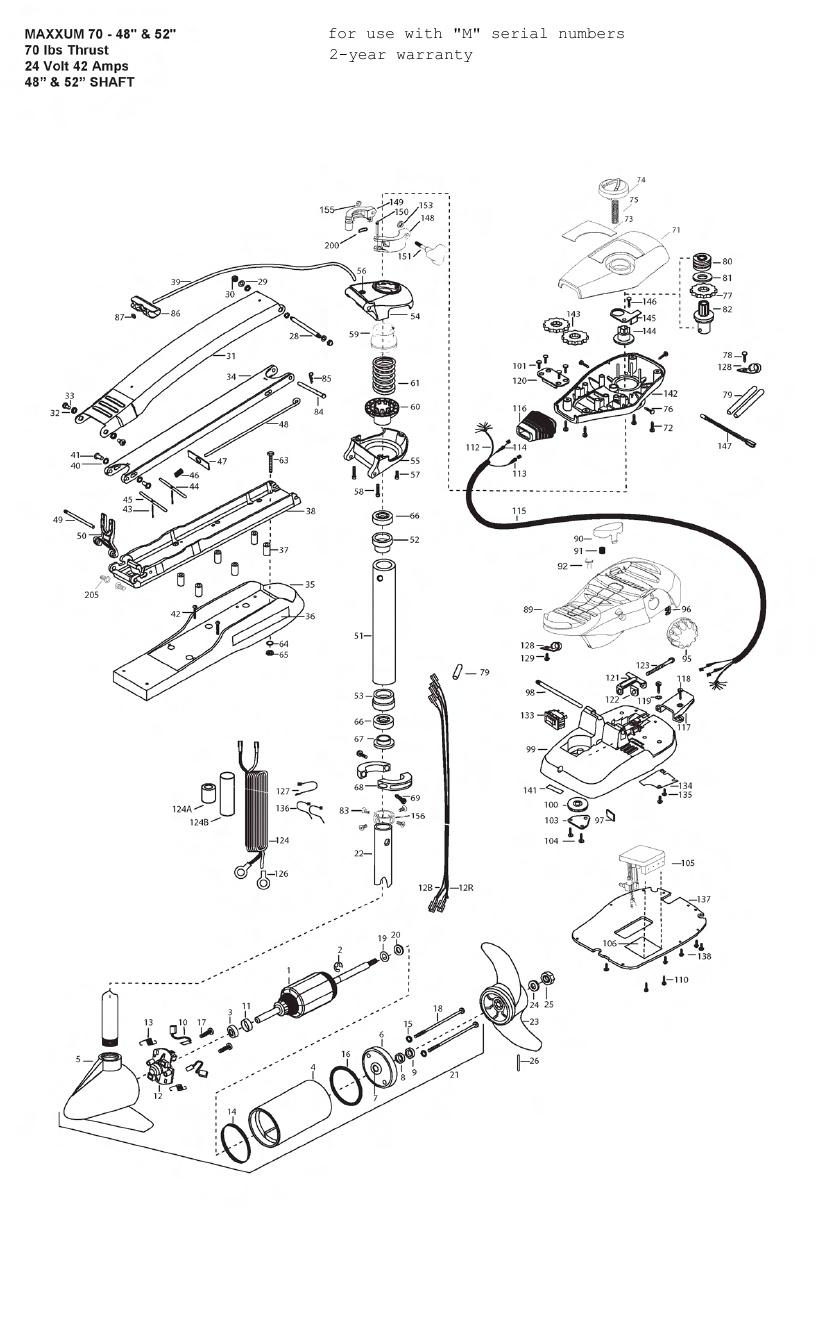 Minn Kota Max 70 (52 Inch) Parts - 2012