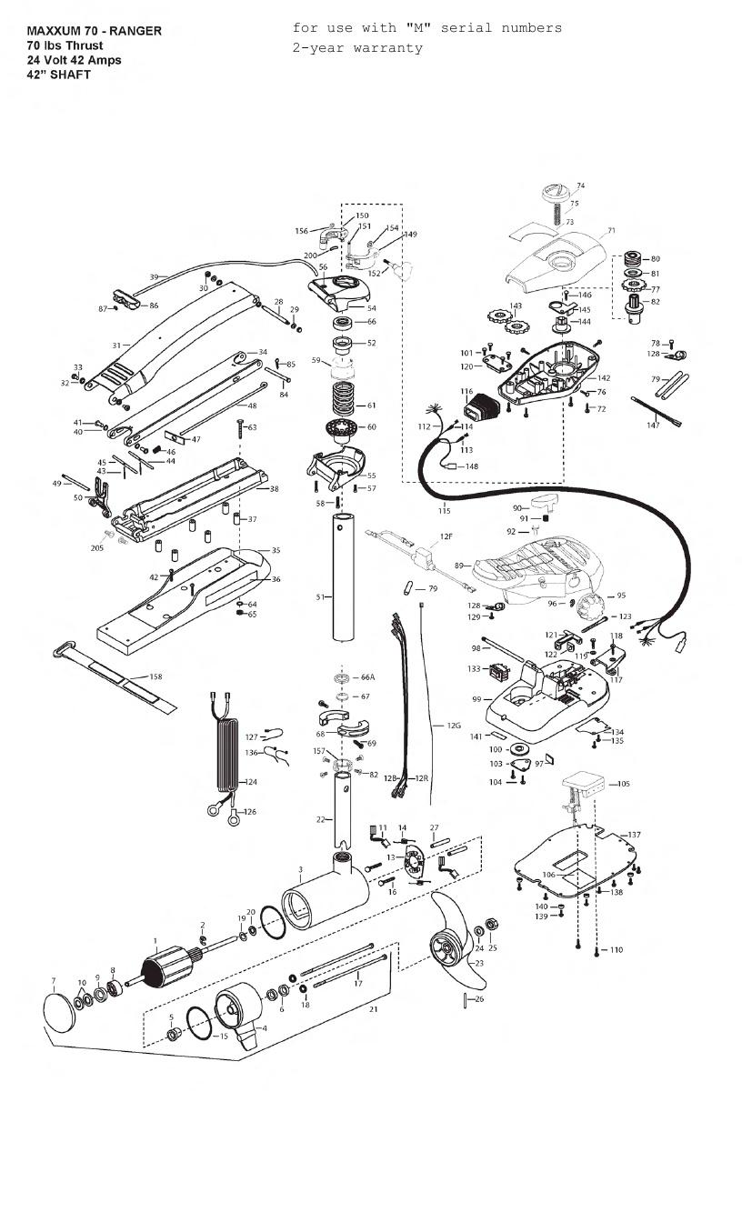 Minn Kota Max 70 Ranger Parts - 2012