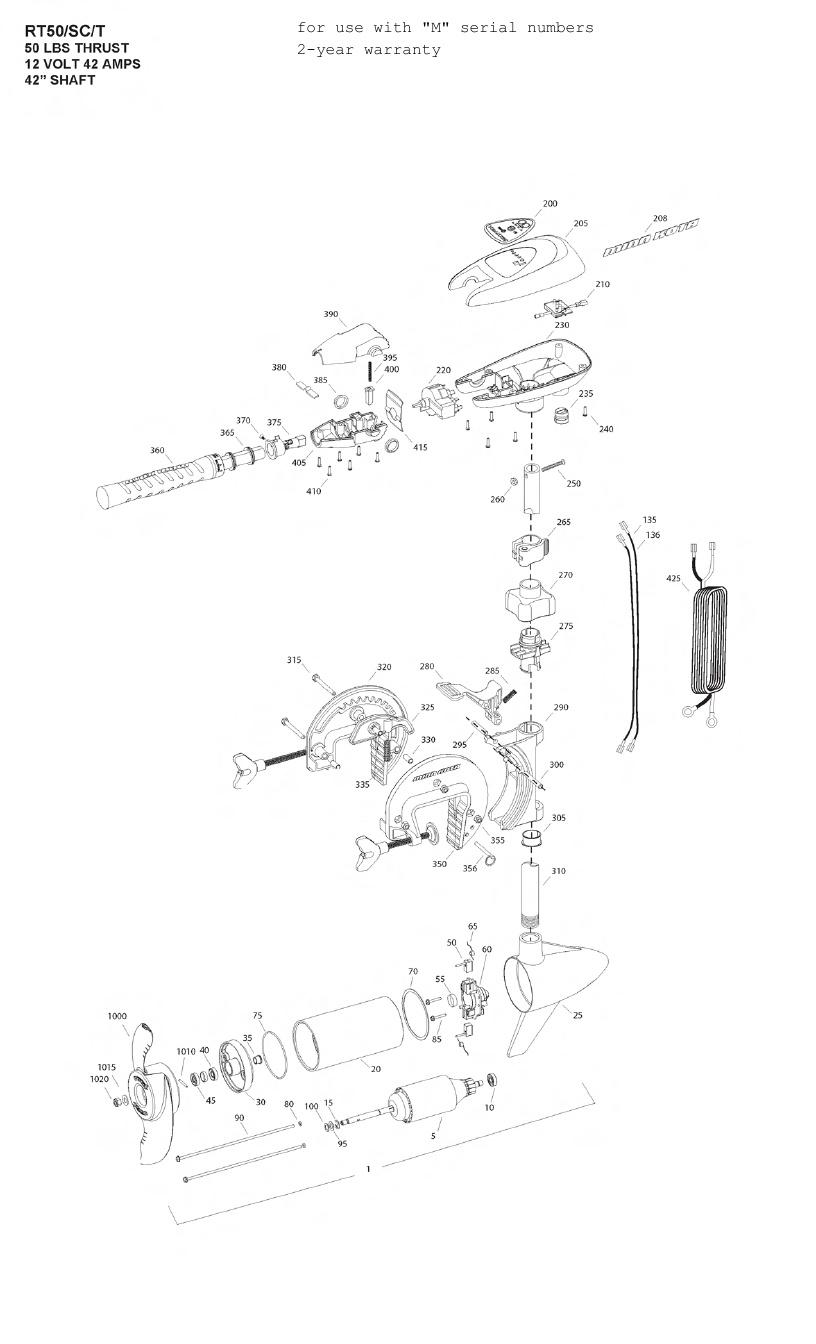 Minn Kota Riptide 50 SCt Parts - 2012