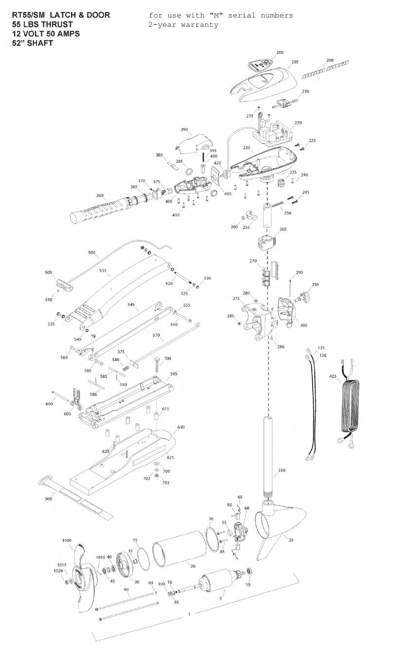 Minn Kota RipTide 55 SM Parts - 2012