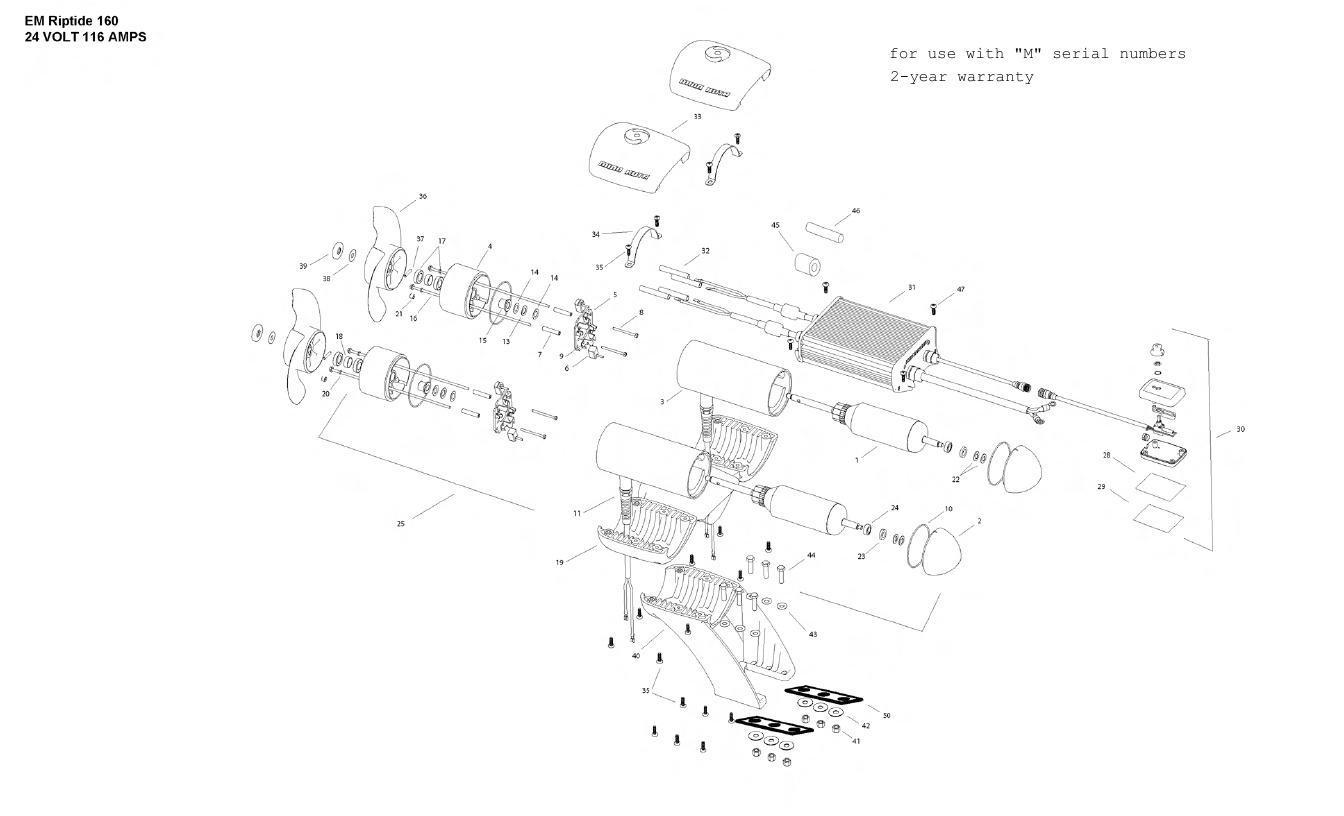 Minn Kota Engine Mount Riptide 160 Parts - 2012