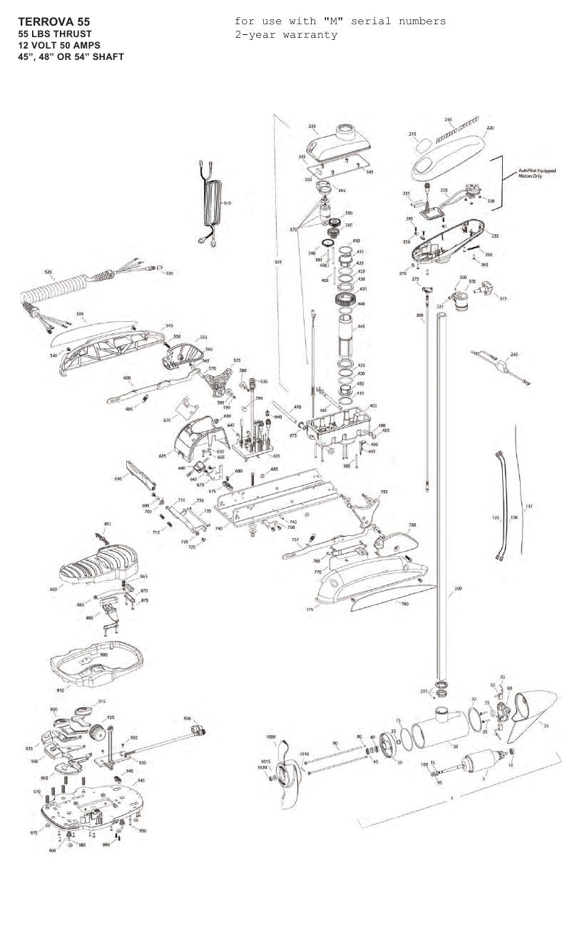 Minn Kota Terrova 55 Parts - 2012