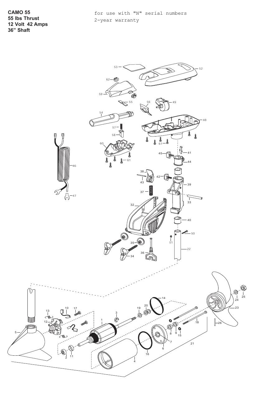 Minn Kota Camo 55 Parts - 2013