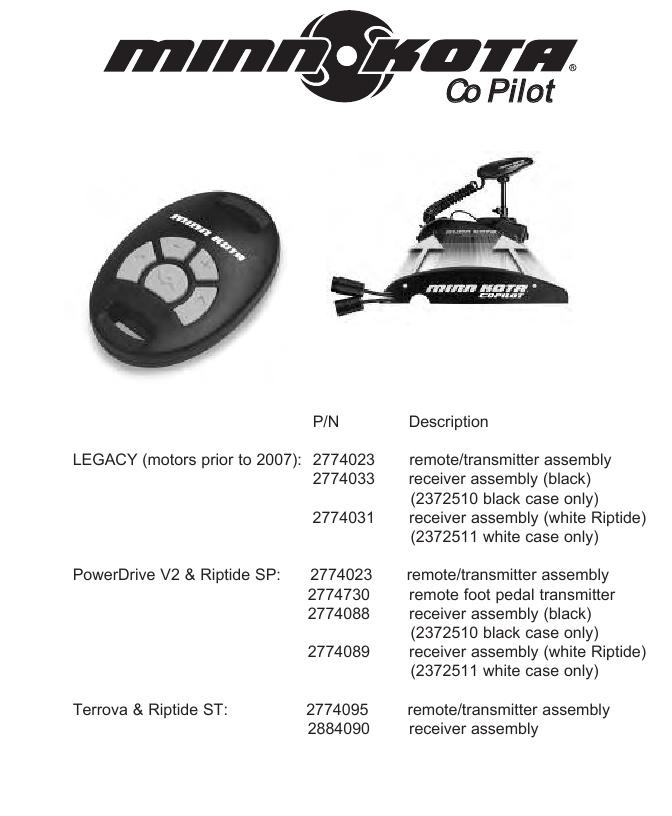 Minn Kota Co Pilot Parts - 2013