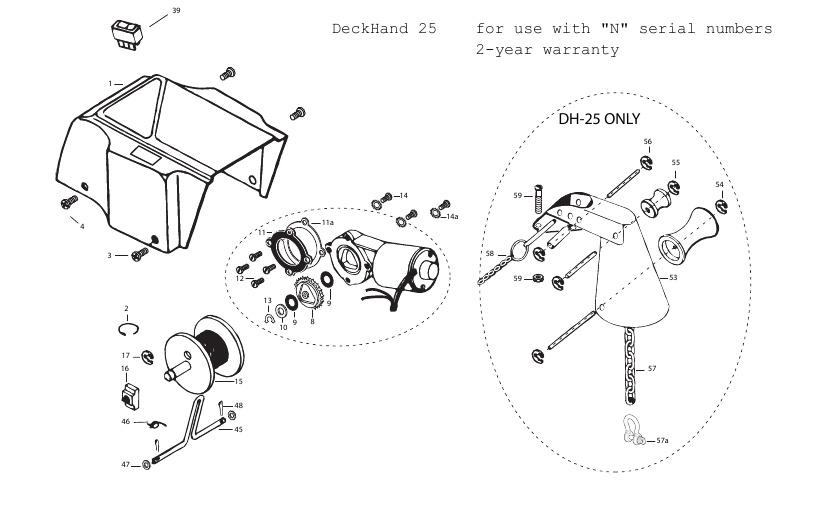 Minn Kota DeckHand 25 Parts - 2013