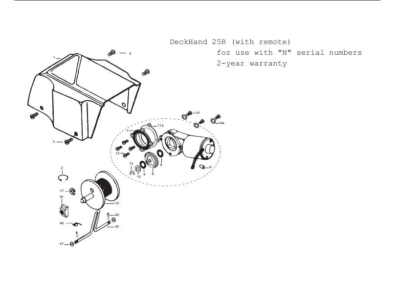 Minn Kota DeckHand 25R Parts - 2013