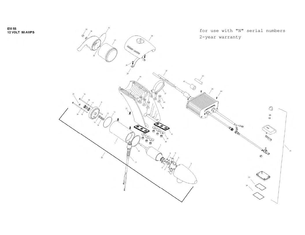 Minn Kota Engine Mount 55 Parts - 2013