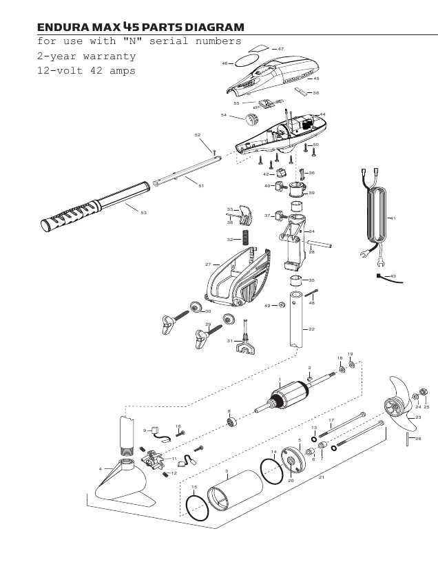 Minn Kota Endura Max 45 Parts - 2013