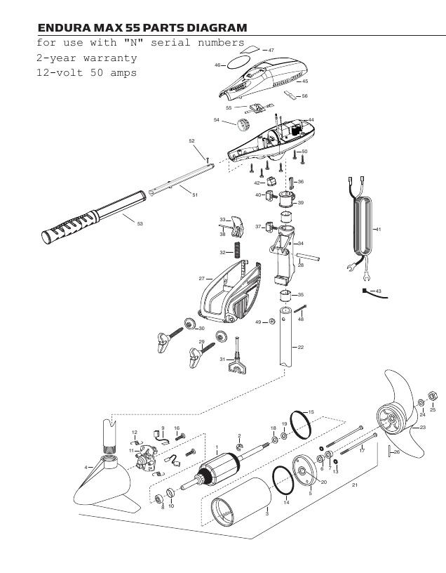 Minn Kota Endura Max 55 Parts - 2013