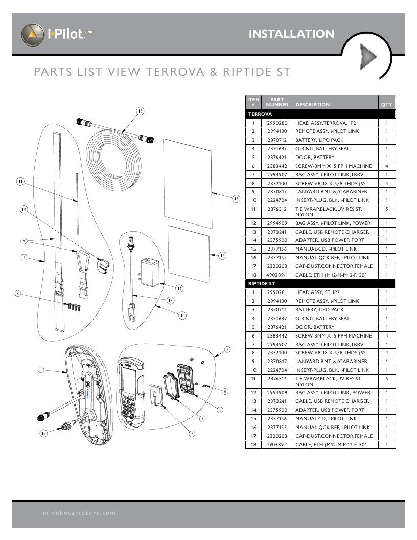 Minn Kota i-Pilot Link Parts - 2013