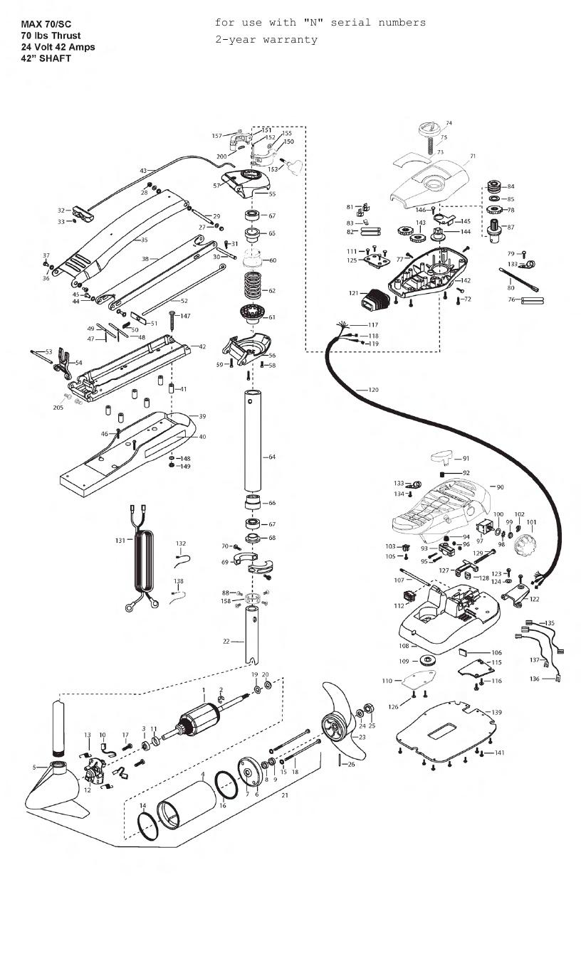 Minn Kota Max 70 SC Parts - 2013