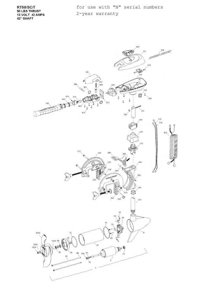 Minn Kota Riptide 50 SC/T Parts - 2013