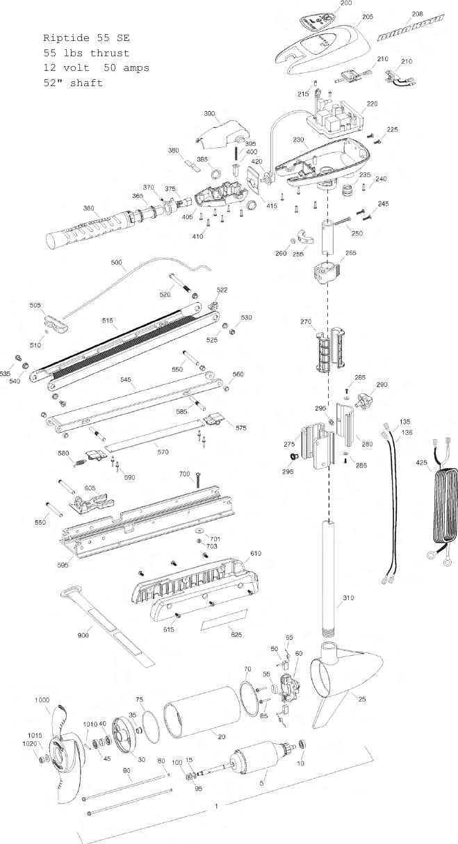 Minn Kota Riptide 55 SE Parts - 2013