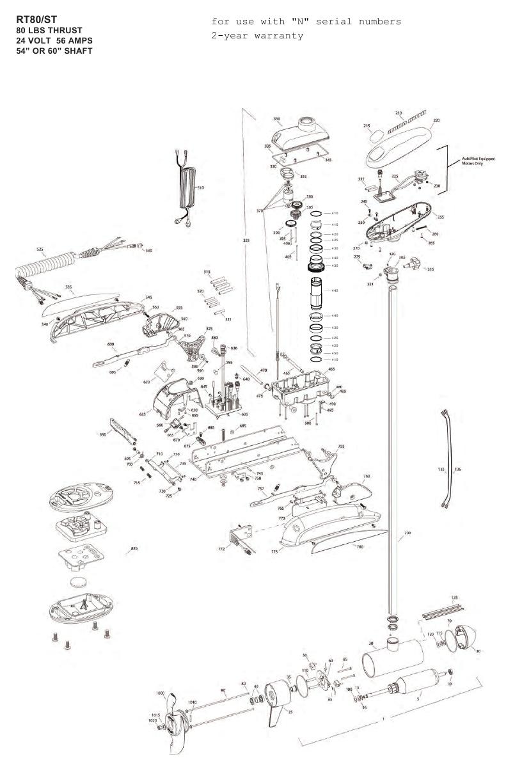 Minn Kota Riptide 80 ST Parts - 2013