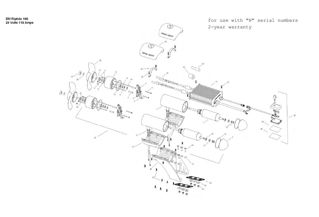 Minn Kota Engine Mount Riptide 160 Parts - 2013
