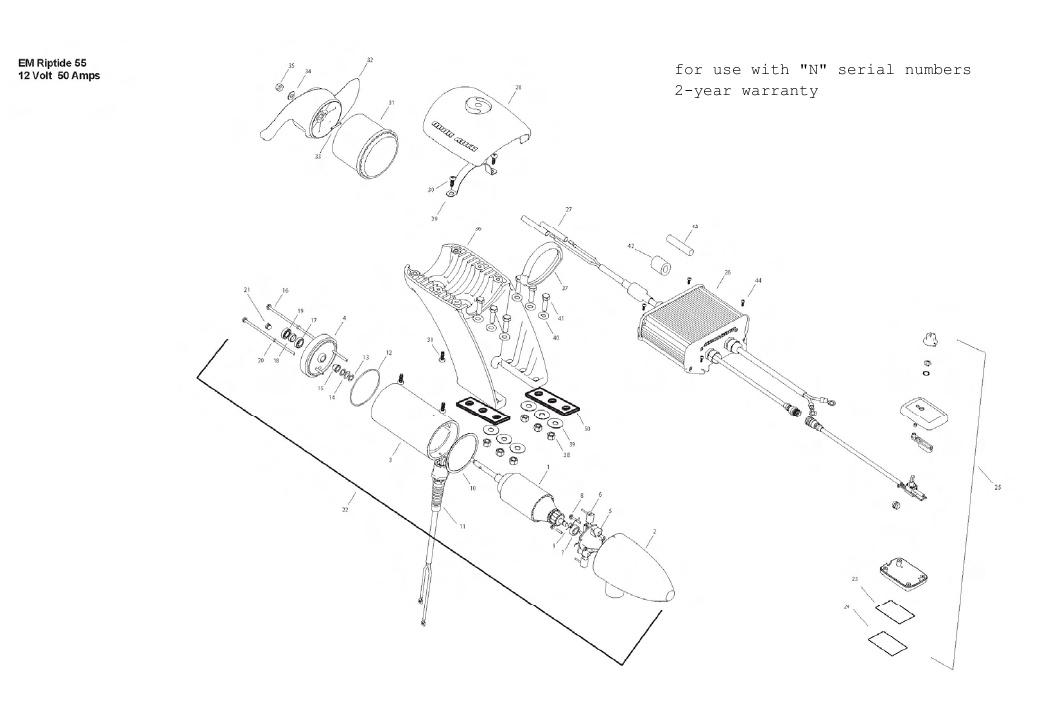 Minn Kota Engine Mount Riptide 55 Parts - 2013