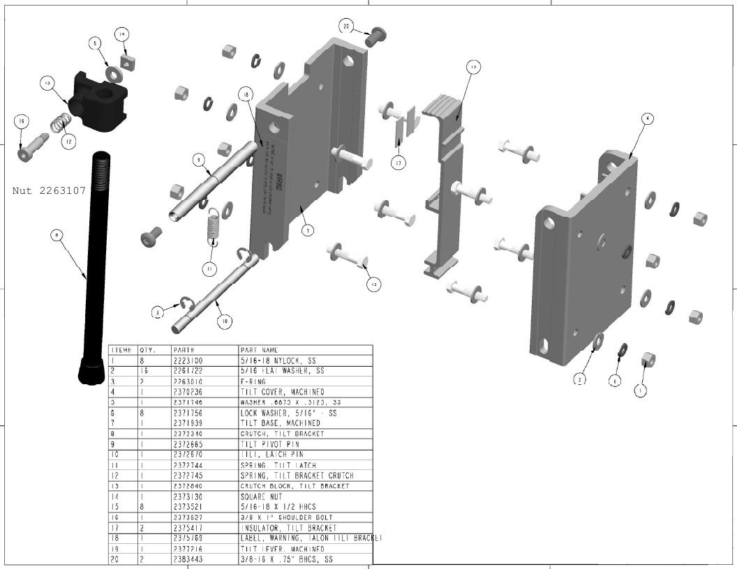 Minn Kota Talon - Tilt Bracket Parts - 2013
