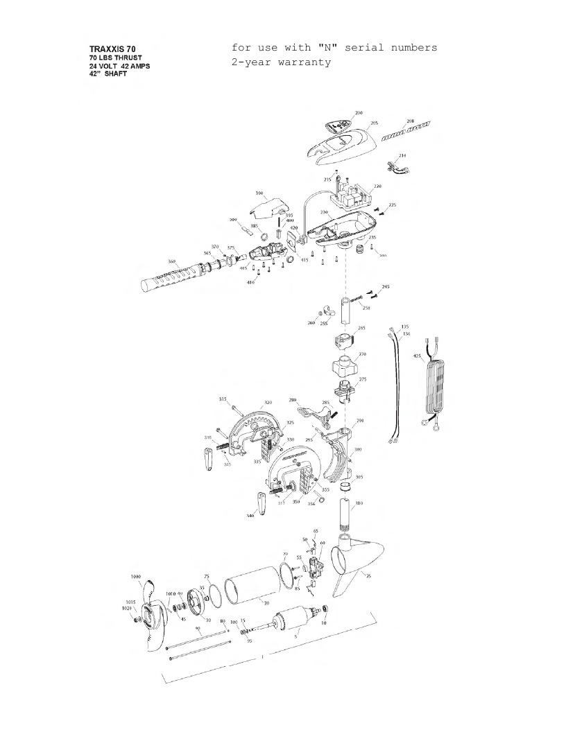 Minn Kota Traxxis 70 Parts - 2013
