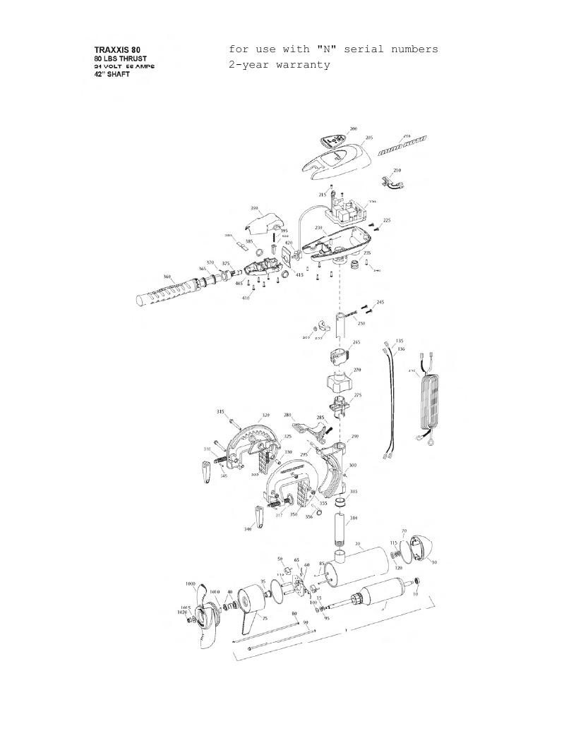 Minn Kota Traxxis 80 Parts - 2013