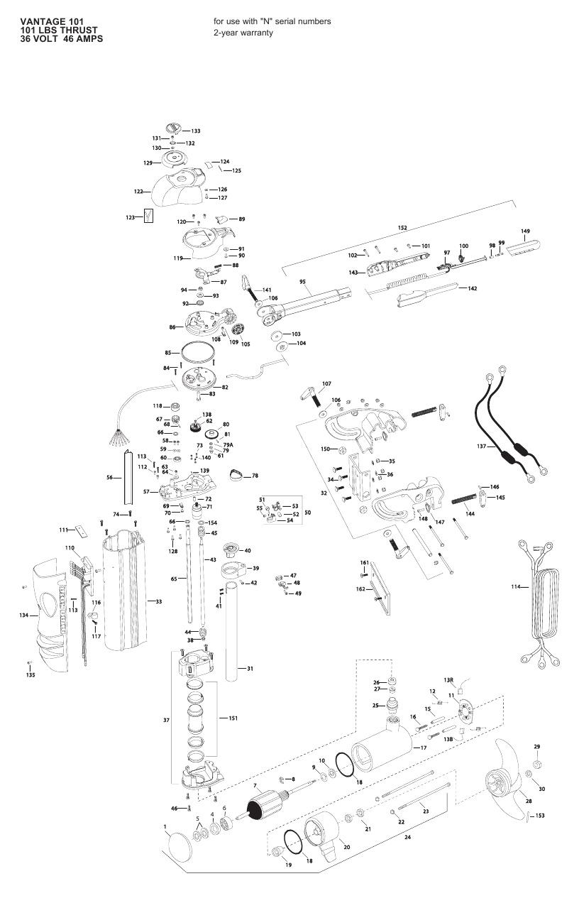 Minn Kota Vantage 101 Parts - 2013
