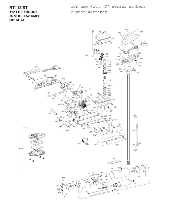 MINN KOTA TROLLING MOTOR PART Control Box Lower 2320201 Riptide ST ...