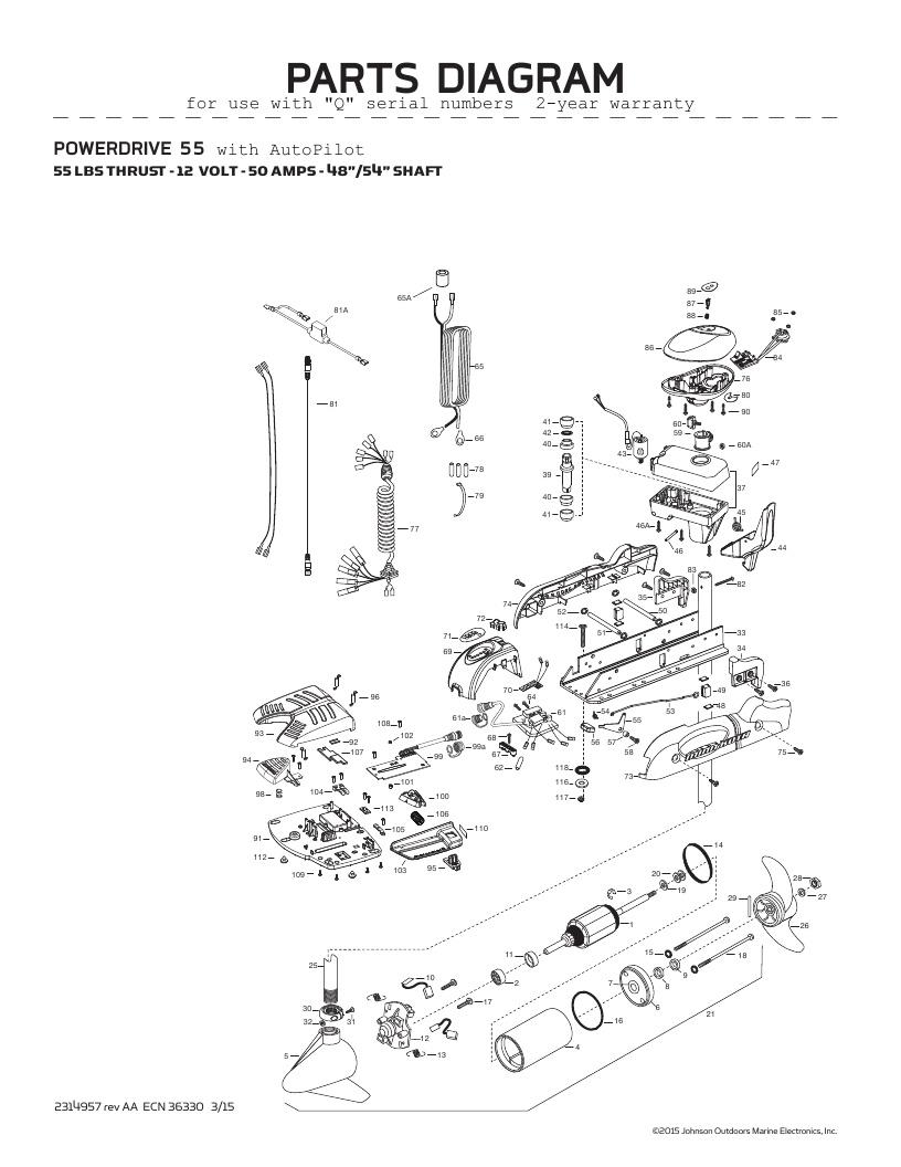 Minn Kota AutoPilot V2 55 Parts-2016