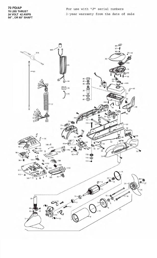 Minn Kota AutoPilot V2 70 Parts - 2009