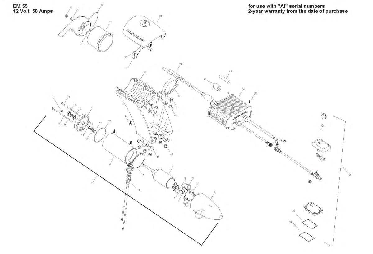 Minn Kota Engine Mount 55 Parts - 2008
