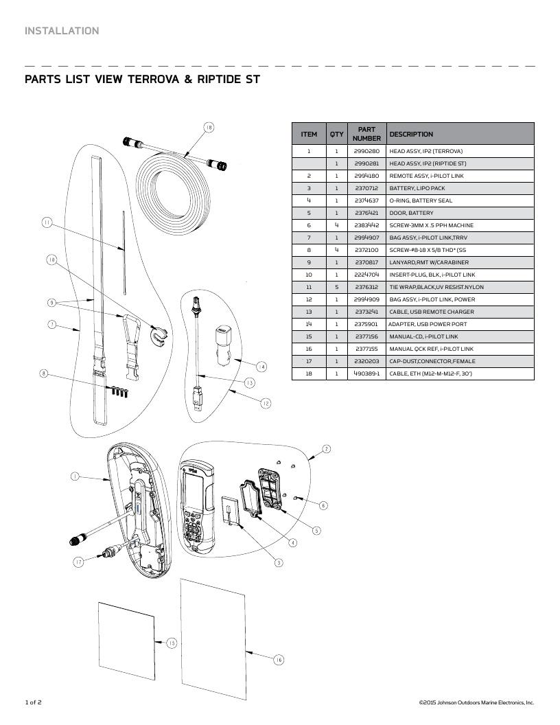 Minn Kota i-Pilot Link Parts-2016