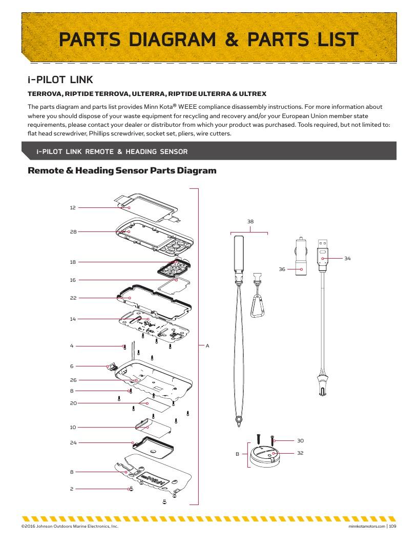 Minn Kota i-Pilot Link Parts-2018