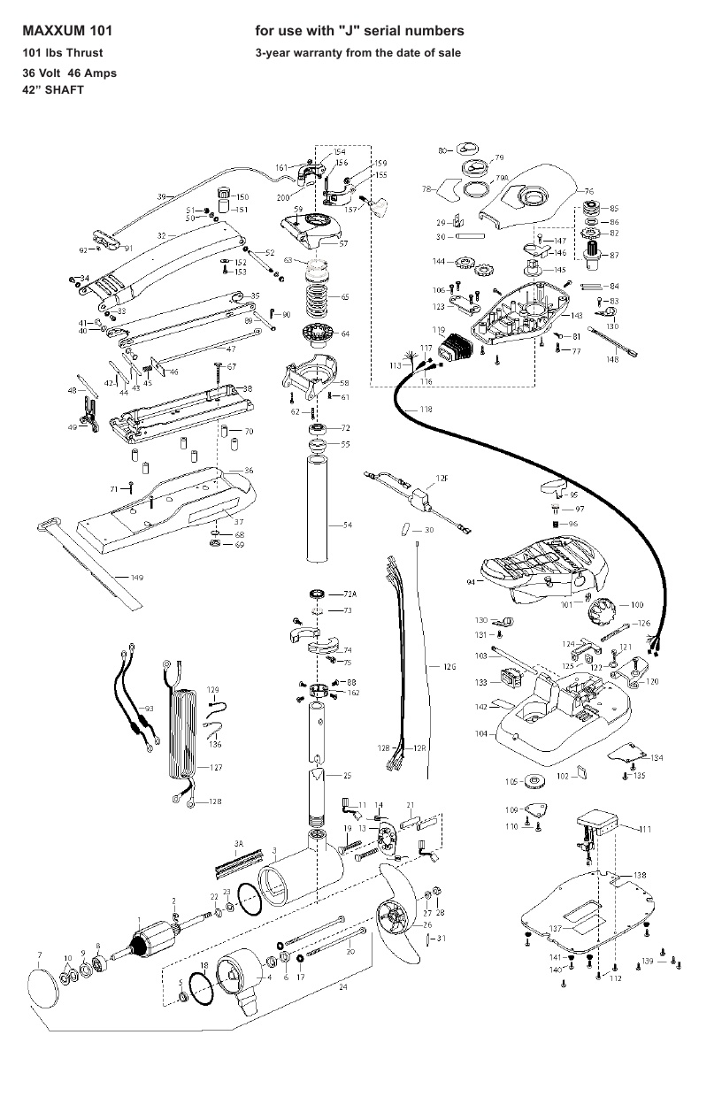 Minn Kota Max 101 (42 Inch) Parts - 2009